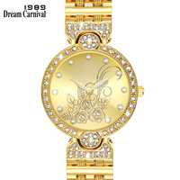 Dreamcarnival 1989 Elegant Flower Dial Wrist Watch for Women Crystal Clock 3 Hands PC Movement Factory Direct Wholesale A8361