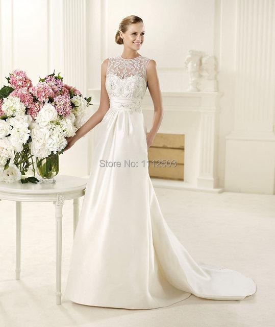 Elie Saab Wedding Dresses With Detachable Train Sabrina Neckline ...