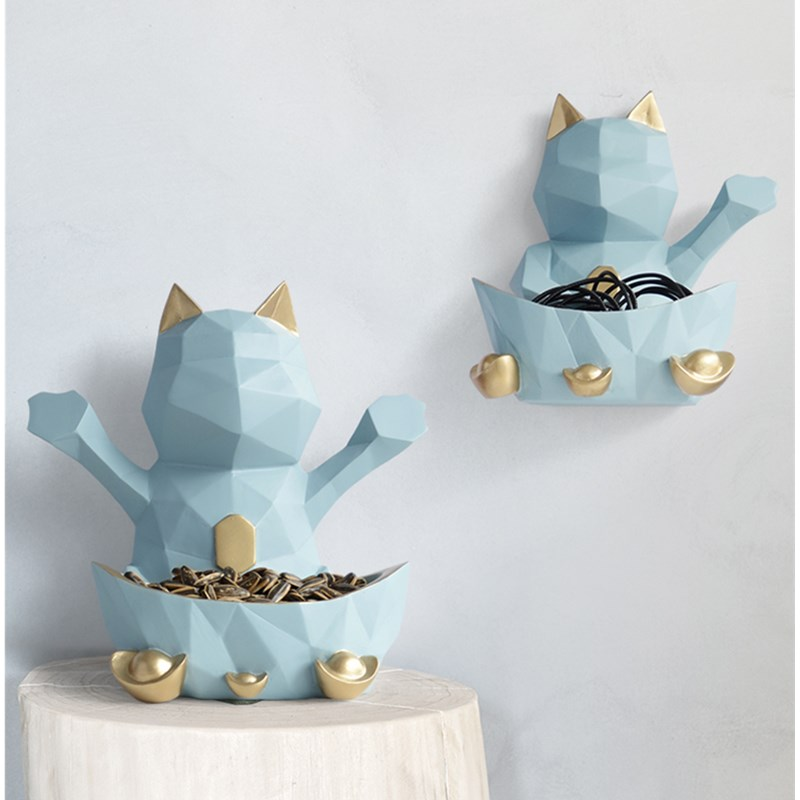 Animal Cats Storage Box Statue Resin Craftwork Home Sycee Pendant Wall Decor For Living Room L3005Animal Cats Storage Box Statue Resin Craftwork Home Sycee Pendant Wall Decor For Living Room L3005