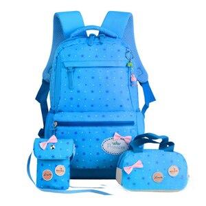 Image 4 - ZIRANYU star printing children backpacks For Teenagers girls Lightweight waterproof school bags child orthopedics schoolbags