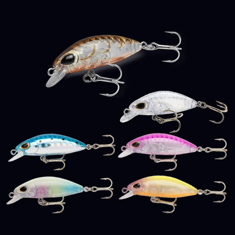 ANHENJI 6Pic/lot 3.5CM 2G Minnow Fishing Lure Peche Six Colors Mi057 Ocean Boat Fish Tackle Artificial Bait