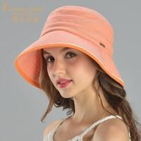 Charles Perra Sun Hats Female Spring Summer New Foldable Women Sunscreen Bucket Hat Fashion Elegant Beach Lady Caps 8242