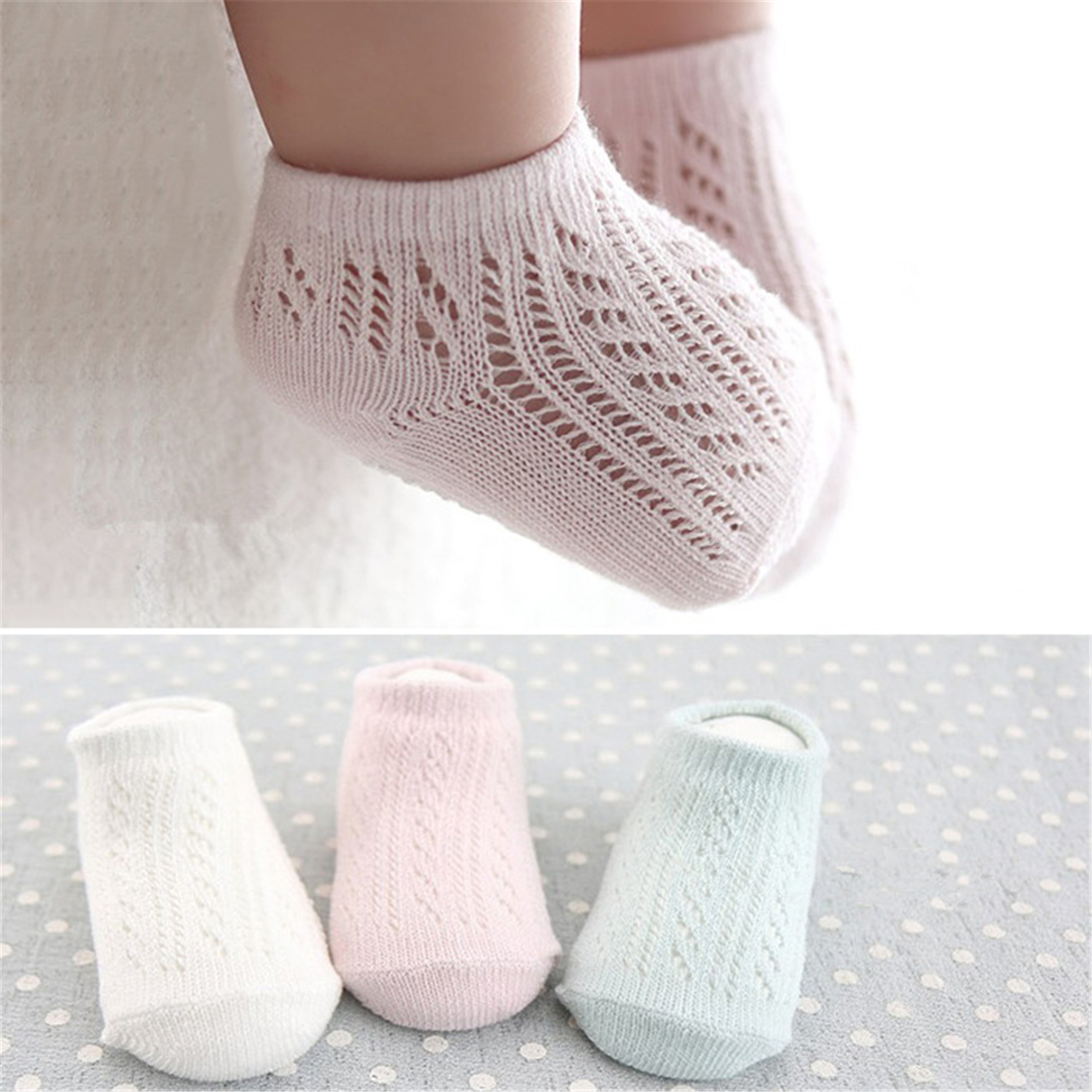 Spring Summer Mesh Baby Stocks For New Born Unisex Kid Kanak-kanak Infant Boy Girl Stoking Pendek