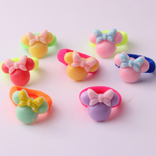 20pcs/lot Hot sale childrens cute hair band with Mickey Rabbit cartoon charms ornament for small towel ring 5 designs