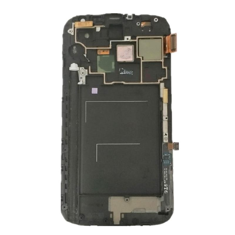 100% probado trabajando LCD para Samsung Galaxy nota 2 N7100 N7105 LCD con marco de pantalla táctil completa + envío gratuito herramientas