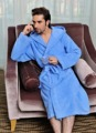 Terry bathrobe with hooded solid 100% cotton hooded bathrobe for men