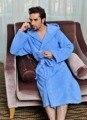 Terry roupão de banho com capuz sólidos 100% algodão com capuz roupão de banho para homens