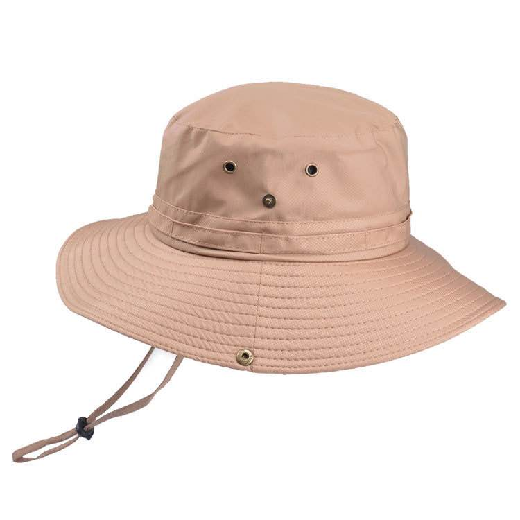 Fisherman Hat Boonie Hat Outdoor Hunting Fishing Wide Brim Military Sun Hats Unisex Wild Men Women Solid Drawstring Flat Cap New in Men 39 s Sun Hats from Apparel Accessories