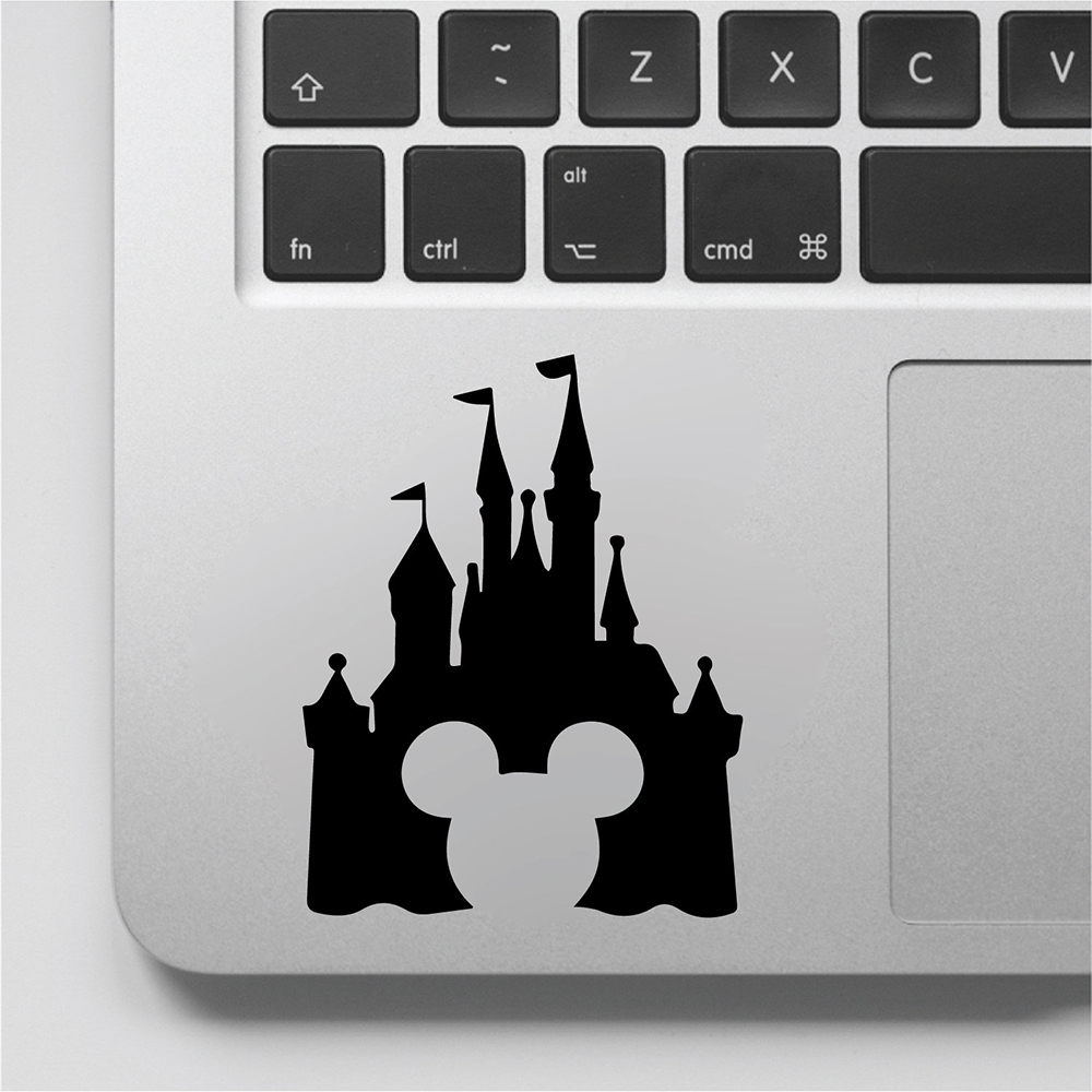Cartoon Castle Wall Decal Mickey Mouse Vinyl Laptop <font><b>Stickers</b></font> Computer Decor for Girls Boys Switch Art <font><b>Muraux</b></font> Decals D807 image