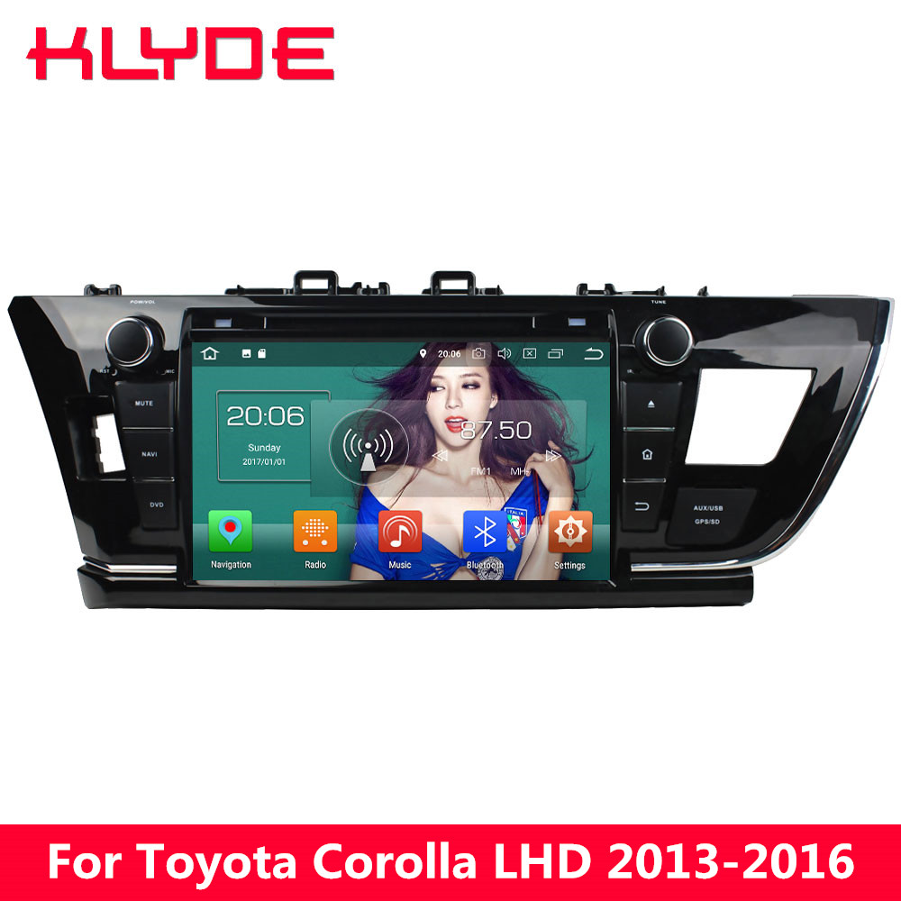 KLYDE 9 4G Android 8.0 Octa Core 4GB RAM 32GB ROM BT Car DVD Multimedia Player Radio For Toyota Corolla 2013 2014 2015 2016 LHD