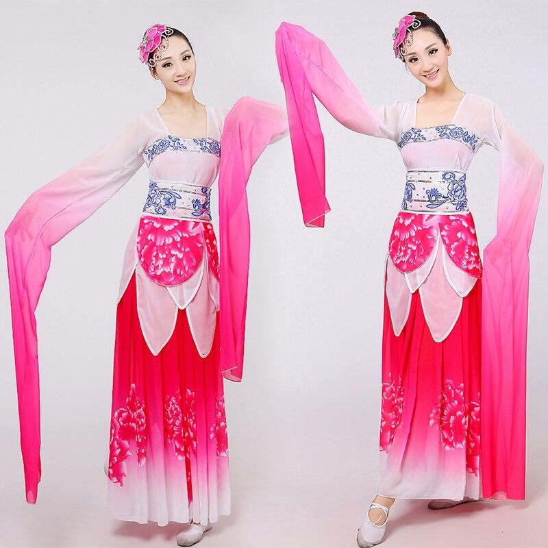 Trajes de baile chino tradicional mujeres rendimiento danza popular ...