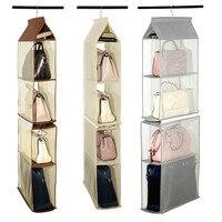 4 слоя подвесная сумка-Органайзер для шкафа Non-трикотажный склад Сумка двери настенный ясный без исключения Мешок для обуви с Сумка-вешалка