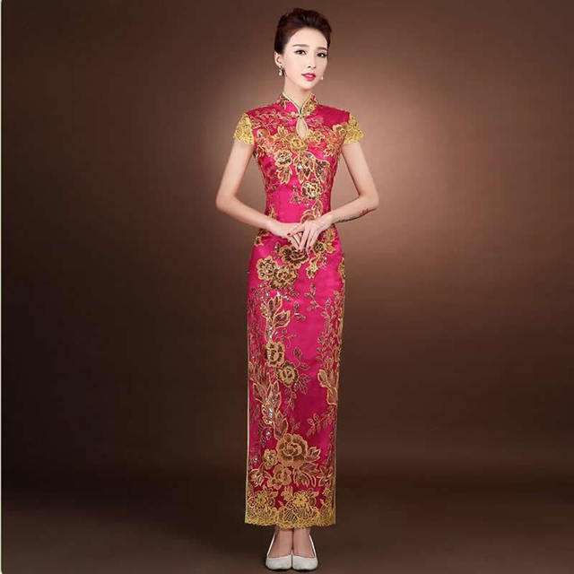 9fe8bb239 2016 Chinese Traditional Dress China Wedding Dresses Qipao Long Evening  Party Cheongsam Qi Pao Oriental Dresses