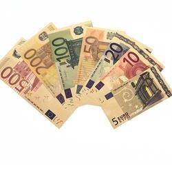 7 шт./компл. Euro Gold Фольга Бумага деньги художественных промыслов коллекция подарки не валюты