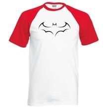 Summer 100% Cotton Raglan T Shirt Men Fashion Batman T-Shirt Short Sleeve O-Neck Tops Brand Clothing Hipster Men