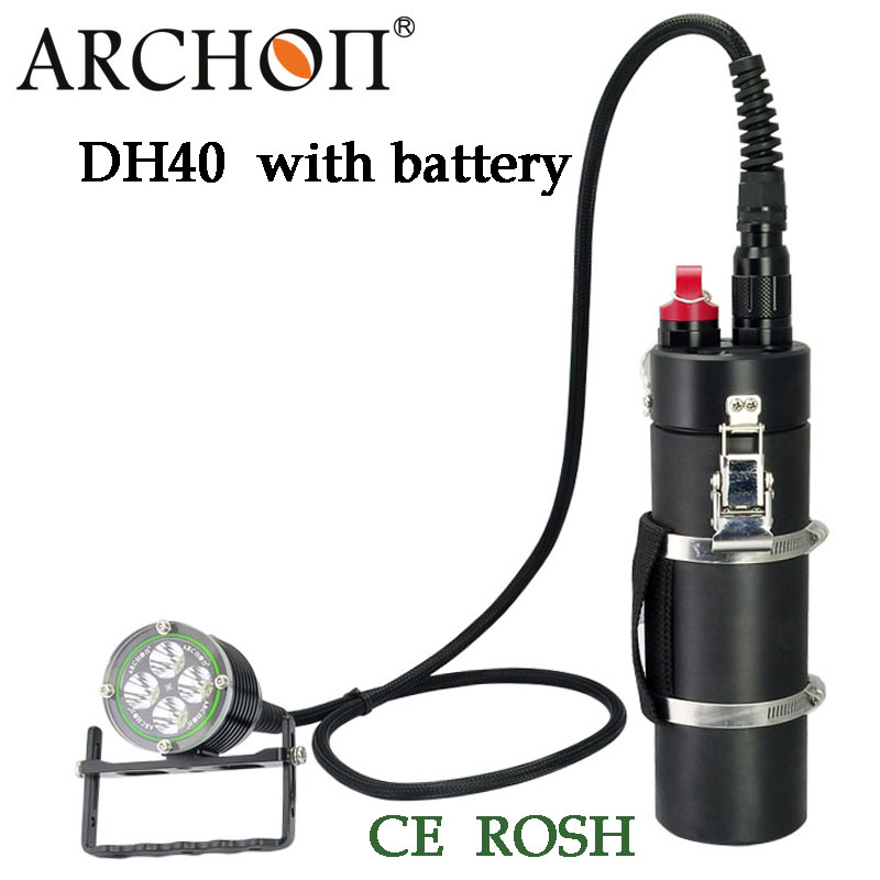 100% Original Archon DH40 WH46 Cree XM-L U2 Canister Snorkeling Scuba Diving LED Headligh with battery archon dh25 wh31 1000 lumens cree xm l u2 canister snorkeling scuba diving light