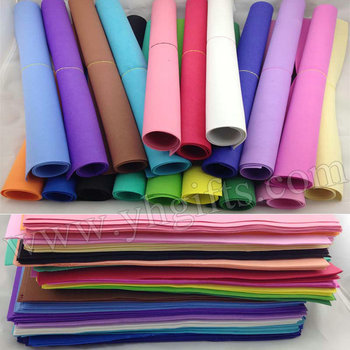 204PCS/LOT.1mm 17 color Foam sheets,Sponge paper,Punch foam,Foam crafts.Craft material,School projects.Foam flower.Wholesale