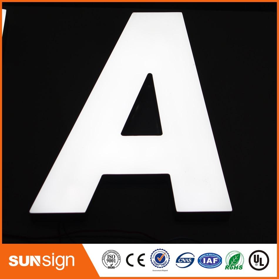 Acrylic Board Letter Store Sign Supermarket LED Frontlit Sign