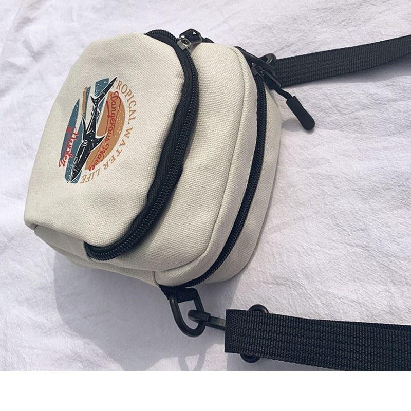 Mini ženske torbice platnene torbice majhne platnene ramenske - Torbice - Fotografija 3