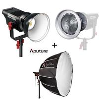 Aputure LED Video Light Kit LS C120d V mount kit + Fresnel mount kit + Light Dome Studio light LED Light