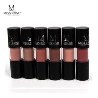 12pcs Set Miss Rose Brand Matte Lipstick Lips Gloss Waterproof Moisturizing Liquid Lipstick Nutritious Matte Lip