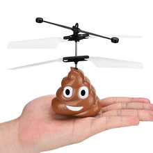 Hand Flying Poop Ball Mini Induction Suspension RC Aircraft Flying Remote Control Toys font b Drone