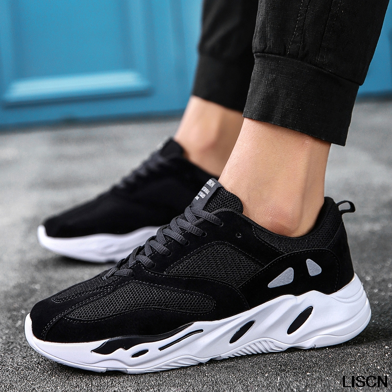 7b7460ffb10 Vintage dad Men shoes 2018 kanye west fashion air mesh breathable men  casual shoes new men sneakers zapatos hombre CHl747-in Men s Casual Shoes  from Shoes ...