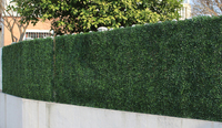 2.4M x 2.4M Wedding Grass Mat Artificial Boxwood Foliage Hedge Wall Panels Flower Wall Home and Garden decoation