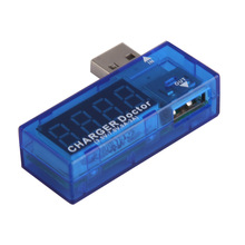 Portable Mini USB Power Current Voltage Tester Mobile Charger Doctor Blue Current Voltage Tester