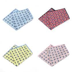 MF2524 продажи Винтаж Для мужчин хлопок нагрудные платки окантовкой с цветочным принтом Платки для Ascot Галстуки Галстук Свадебная вечеринка
