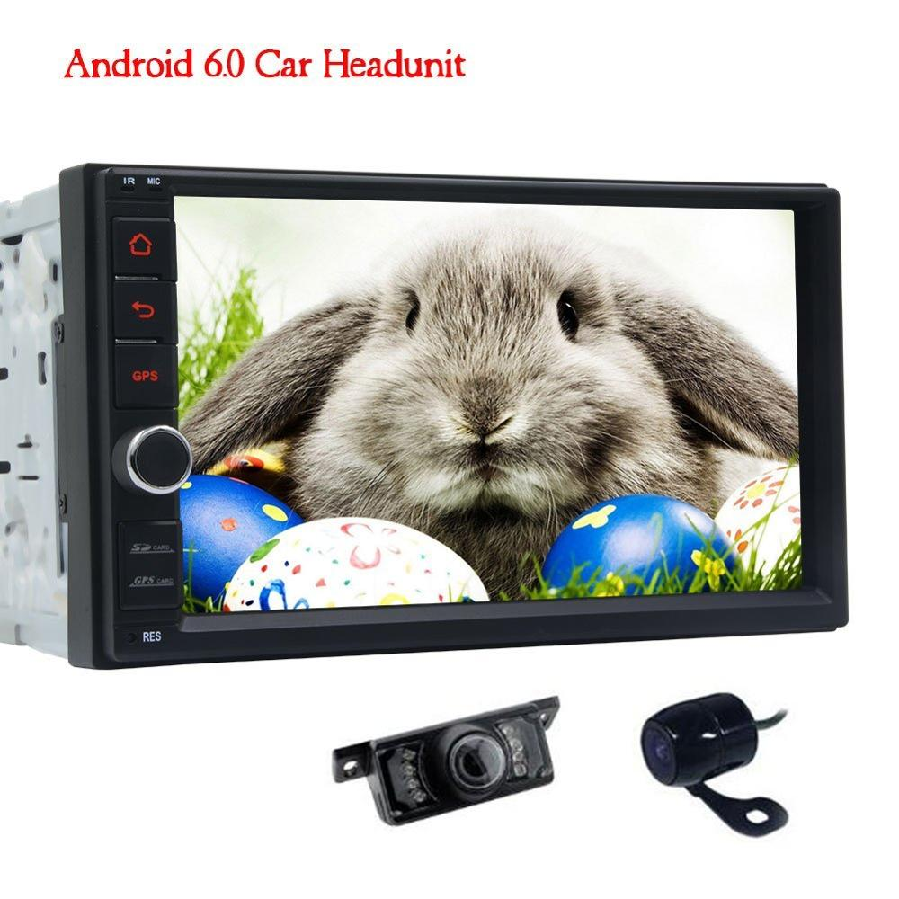 Front Camera&Rear view Camera included 2 din Android 6.0 Car Stereo Autoradio 1080P Video Audio Car FM Radio SWC (No DVD Player)