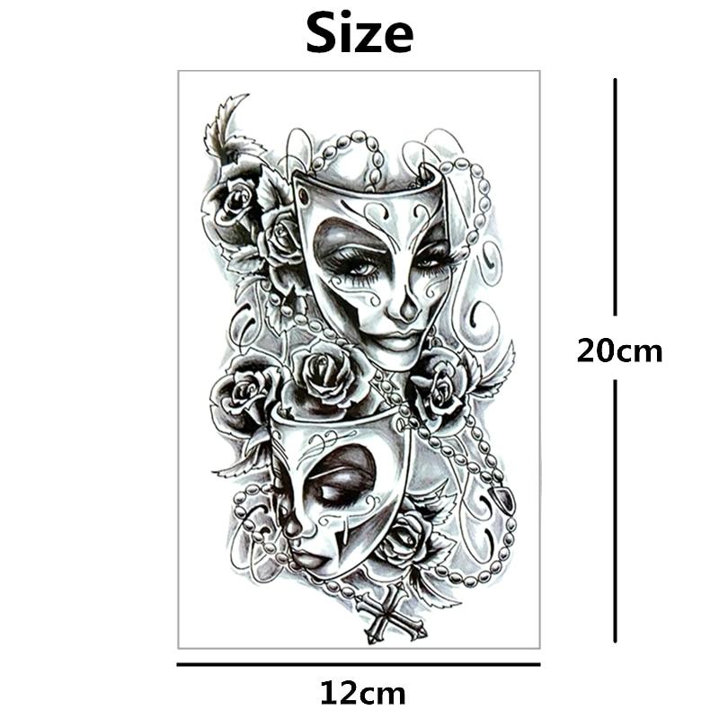 Us 11 Nu Taty Phantom Der Oper Temporäre Tattoo Body Art Tattoo Aufkleber 1220 Cm Wasserdicht Tatoo Styling Home Decor Aufkleber In Nu Taty