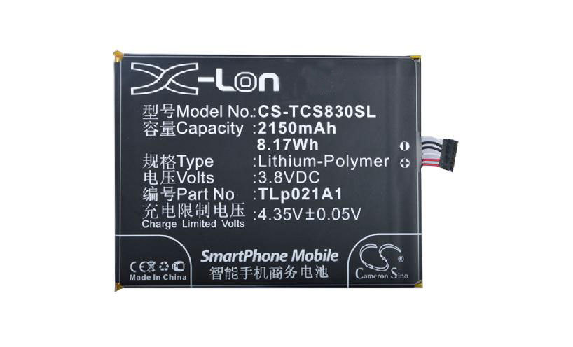 Free shipping high quality mobile phone battery TLp021A1 for TCL S838M S830U with excellent quality and best price