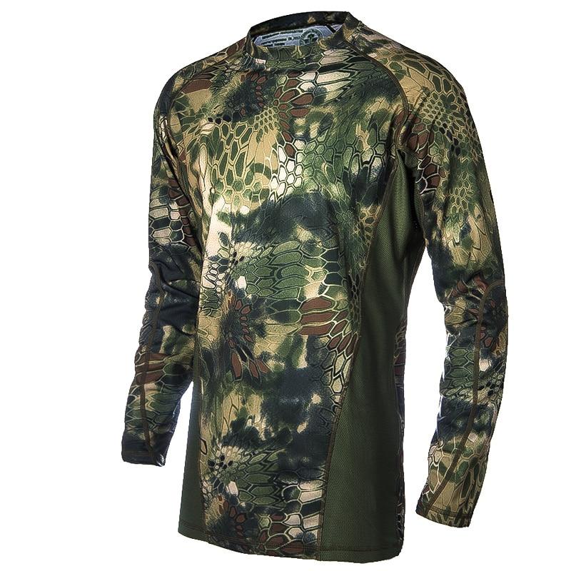 Ov Hərbi Kamuflyaj Geyimləri Airsoft T-shirt Açıq İdman - İdman geyimləri və aksesuarları - Fotoqrafiya 1