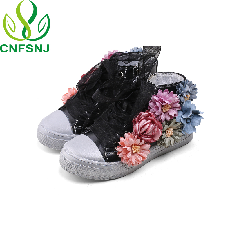 CNFSNJ 2018 autumn winter new children shoes canvas sports girls flowers high state princess ribbon 26-36 boys sneakersCNFSNJ 2018 autumn winter new children shoes canvas sports girls flowers high state princess ribbon 26-36 boys sneakers
