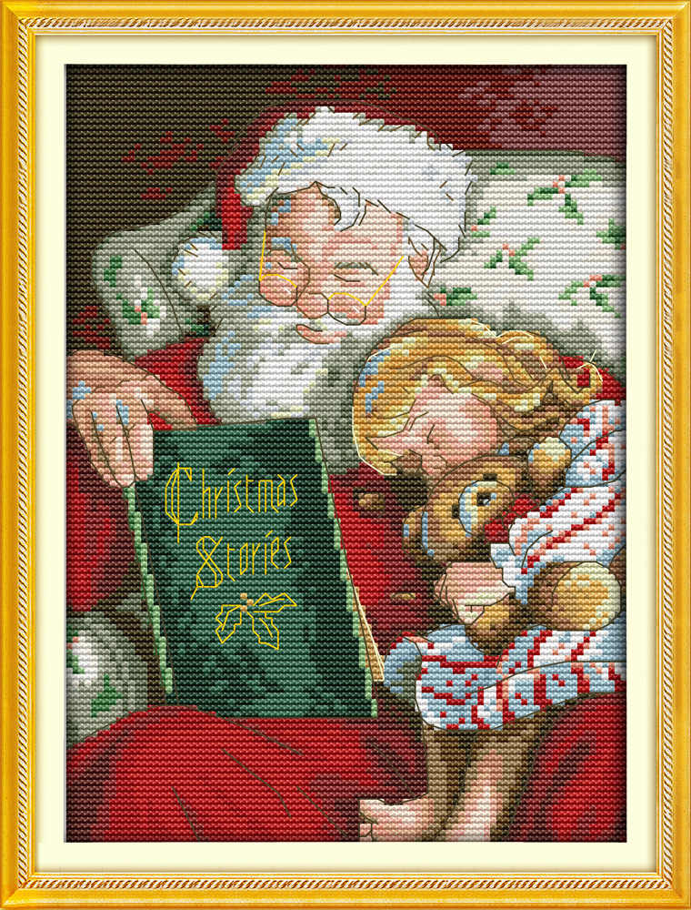 Storia di natale dolce sogno tela dmc contati punto croce kit stampati cross-stitch set embroidery needlework