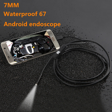 7mm 1/1.5/2/3.5/5M Focus Camera Lens Cable Waterproof 6 LED For Android Endoscope Mini USB Endoscope Inspection Camera CellPhone