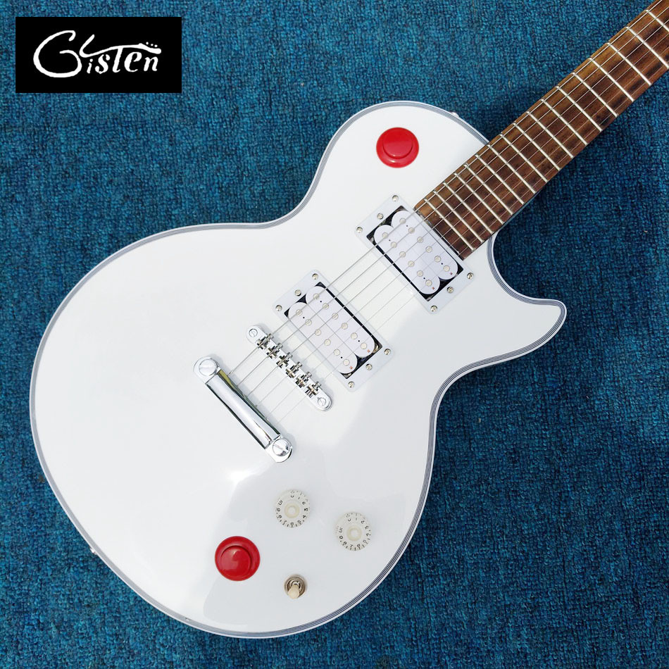 New Custom Shop Kill Switch Buckethead style guitar 24 Frets Electric Guitar, Alpine White Guitarra,Tonepro bridge, White guitar chinese custom shop 24 frets brian may electric guitar glossy green finish guitar body
