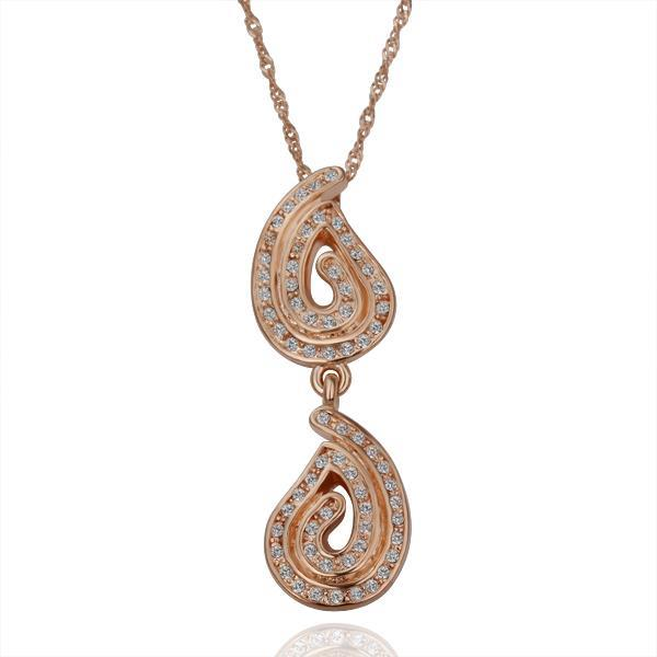 N143 WholesaleNickle Free Antiallergic18K Real Gold Plated Necklace pendants New Fashion Jewelry For Women