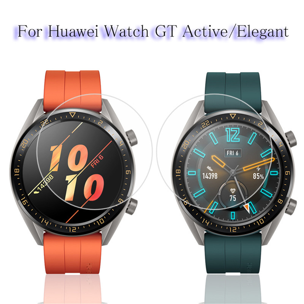 6108eebde Tempered Glass Film For Huawei Watch GT Active Elegant Screen Protectors 9H Protective  Glass Film 2.5D Anti Scratch Films