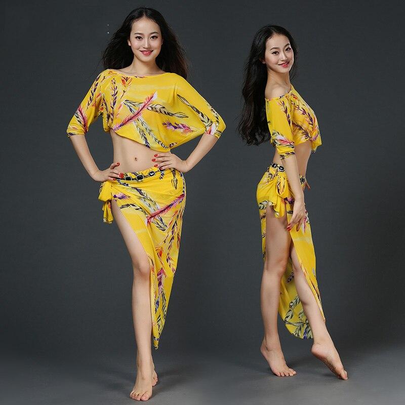 Costume de danse du ventre Carnaval mode imprimé Oriental Bollywood danse Costumes femmes Sari indien vêtements gitane indien porter DN2380 - 4
