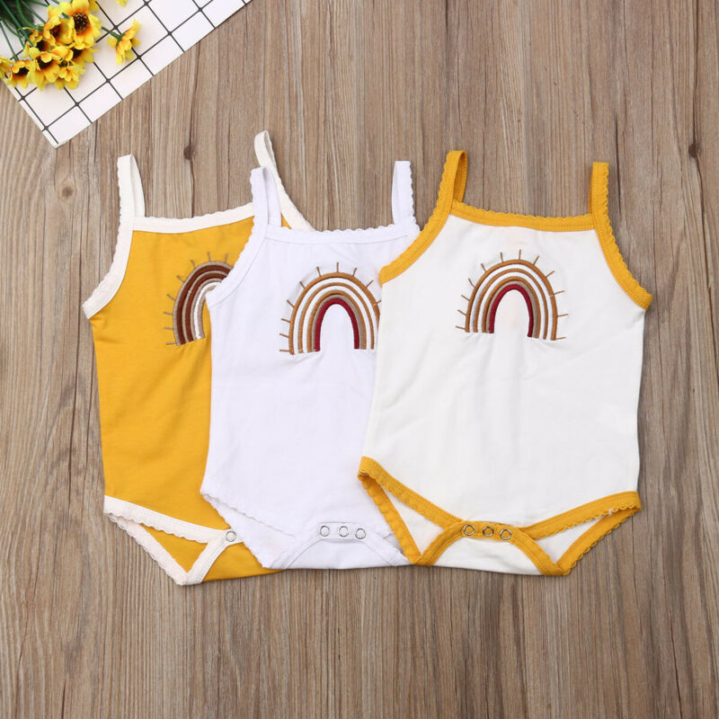 2019 Infant Toddler Baby Girl Kid Sleeveless Bodysuit Summer Jumpsuit One-piece Outfit Girls Cotton Casual Clothes 0-24M