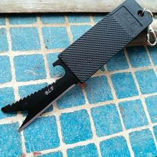 Multi-function 7 in 1 Mini Portable Pocket Saber Cards knife credit key chain tool outdoor survival Camping Travel EDC knife