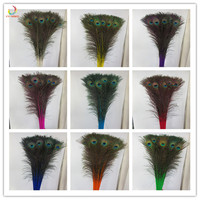 Newest 1000PCS Natural Peacock Feather 90 100cm Clothing Plumage Fashion Crafts Beautiful Performance wedding decoration