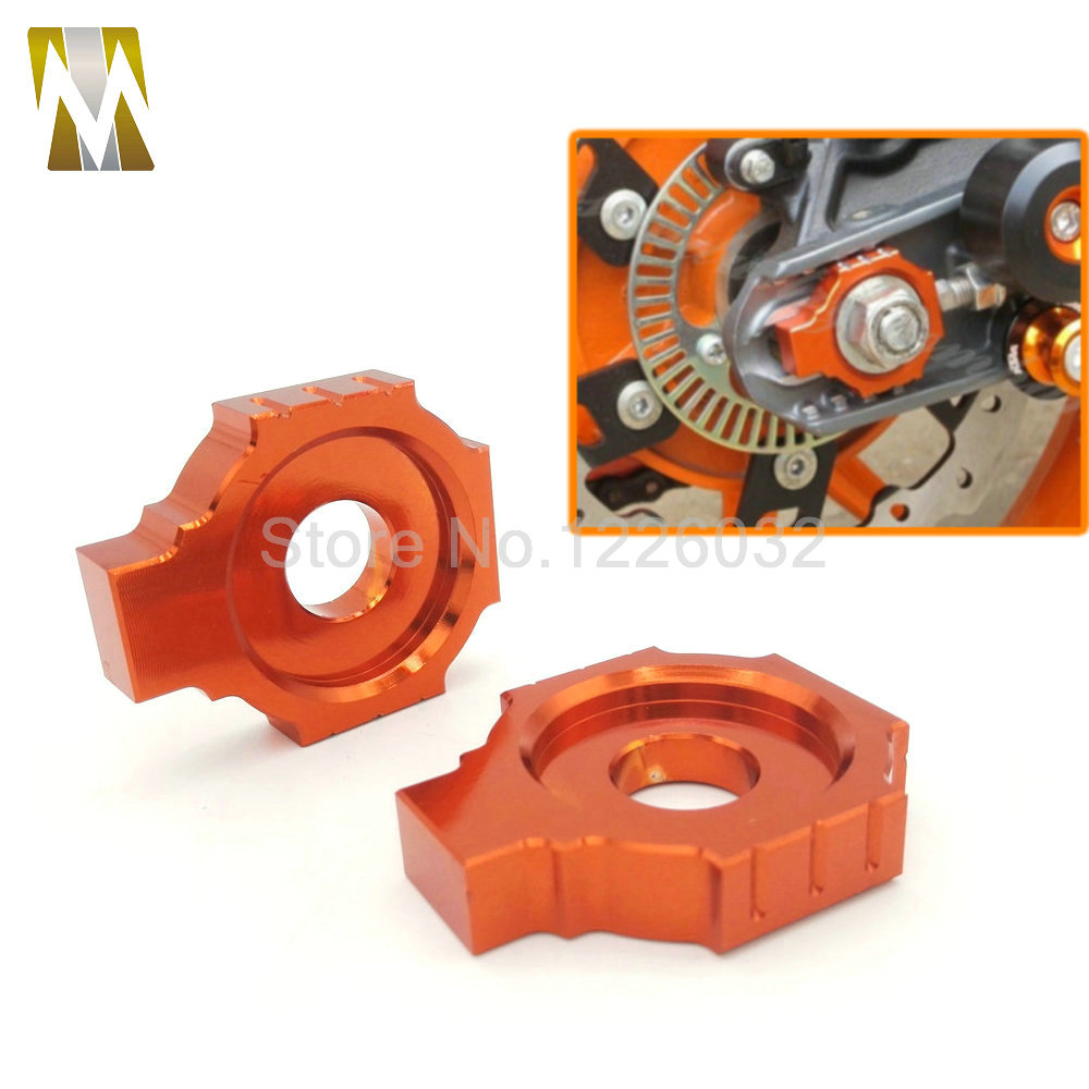 New Orange Motorcycle CNC Rear Axle Spindle Chain Adjuster Blocks for KTM DUKE 125/200/390 hot sale motorcycle leather passenger pillion rear seat for ktm 390 duke black red orange