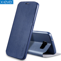 X Level New Arrival Fashion PU TPU Leather Flip Mobile Phone Case For Samsung Galaxy S7