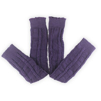 4 Pairs New comfortable Purple Knitted Leg warmer for Women/female/girl/lady, dance Clothes Accessories Boot Cuffs 53cm LM909