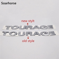 Soarhorse New Style For Touareg Silver ABS Chrome Rear Boot Badge Emblem For VW Volkswagen Alphabet