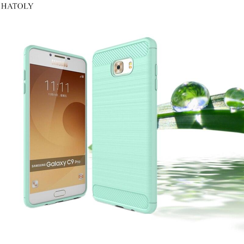 """Hatoly для samsung galaxy c9 pro case антидетонационные soft тпу матовый регби кремния телефон случаях обложка для samsung c9 pro c9000 6 """"("""