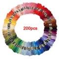 GSFY-200 meadas de fios coloridos para ponto cruz bordado Crochê